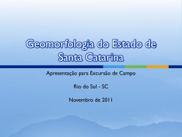 Geomorfologia do Estado de Santa Catarina