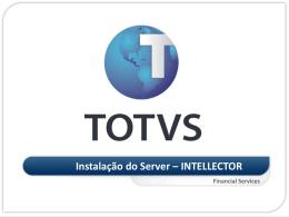 INSTALAÇÃO SERVER - INTELLECTOR - TDN