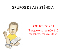 GRUPOS DE ASSISTÊNCIA