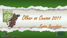 Censos Ensino Secundário
