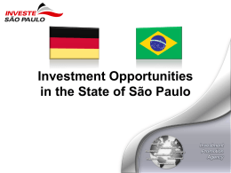 Investment Opportunities in the State of São Paulo