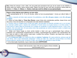 Modelo do Slide PowerPoint 2007