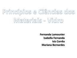 Princípios e Ciências dos Materiais