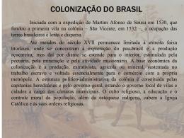 revisão 7º ano _ colonização do brasil
