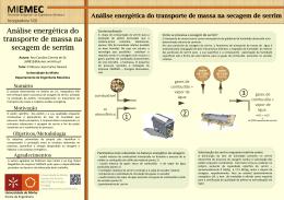 Universidade do Minho - Transferência de massa num secador