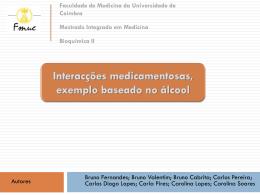 Interacções medicamentosas, exemplo baseado no álcool