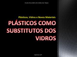 plásticos como substitutos dos vidros TAIPAS 12C