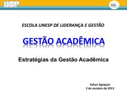 """Baixe a apresentação """"Gestão Acadêmica""""."""