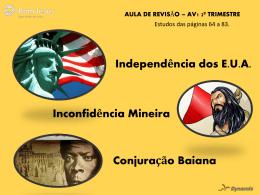 REVISÃO DE HISTÓRIA – 8º ano