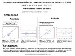 DIFERENÇAS INTER-HEMISFÉRICAS CEREBRAIS NO P300 COM
