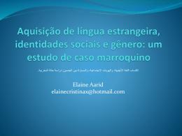 Aquisição de língua estrangeira, identidades sociais e gênero
