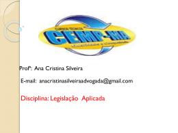 AULA Legislação Aplicada 03 e 04