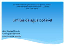 Limites da água potável