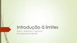 Aula 01 – Introdução à Limites