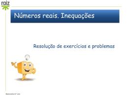 PPTNmeros-Reais-e-Inequaes