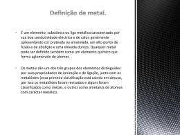 Definição do metal.