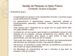Aula GPES – Grupos e Equipes