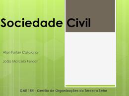 Especificidades da Sociedade Civil