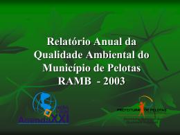 Apresentação RAMB 2003.
