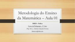 Metodologia do Ensino da Matemática