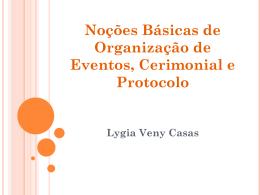 Organização de eventos (Lygia Veny Casas)