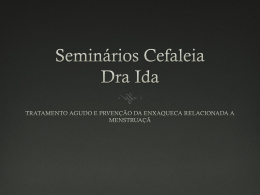 Seminarios Cefaleia Dra Ida