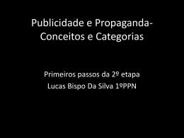 Publicidade e Propagand- Conceitos e Categorias