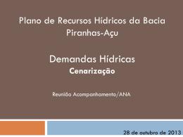 PLANOS DE GERENCIAMENTO DAS ÁGUAS DAS BACIAS DO