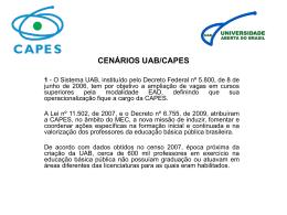 Cenários UAB - CAPES