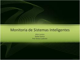 Monitoria de Sistemas Inteligentes