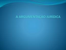 a argumentação jurídica 2011.2