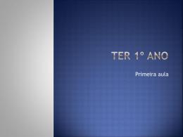 TER1 – primeira aula