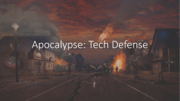 Apocalypse: Tech Defense