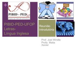 PED-UFOP Letras Língua Inglesa - PIBID