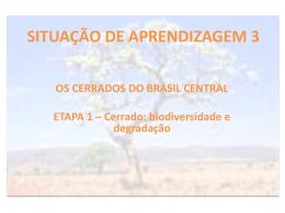 Etapa 1 - Cerrado biodiversidade e degradação