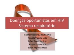 Doenças oportunistas em HIV Sistema respiratório