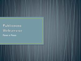 Publicação Webservice