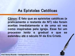 As Epístolas Católicas - Teologia e Discernimento