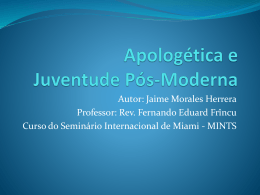 Apologética e Juventude Pós