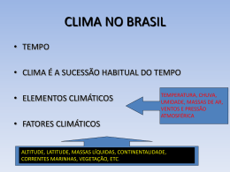 slides de clima no brasil