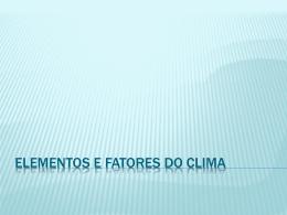 Elementos e fatores do clima (601916)