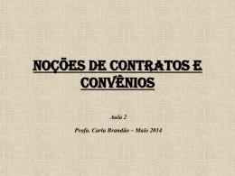 Aula 2 – Noções de Contratos e Convênios