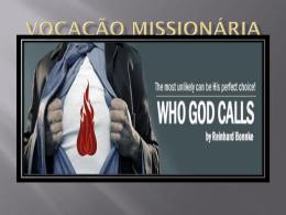 """Aula """"Vocação missionária"""" em powerpoint"""