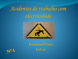 Fisico Quimica Acidentes de trabalho com electricidade