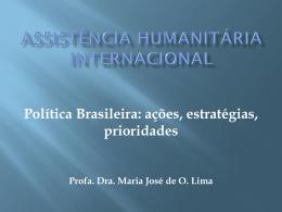 Assistência Humanitária Internacional Política Brasileira