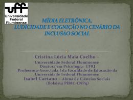 mídia eletrônica, ludicidade e cognição no cenário da inclusão social