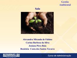 Gestão Ambiental Contaminação de Solos