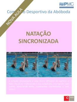natação sincronizada - Complexo Desportivo da Abóboda