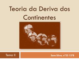 1º trabalho de geologia - Teoria da deriva dos continentes