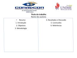 03 a 06 de Novembro de 2014 UNIME Itabuna